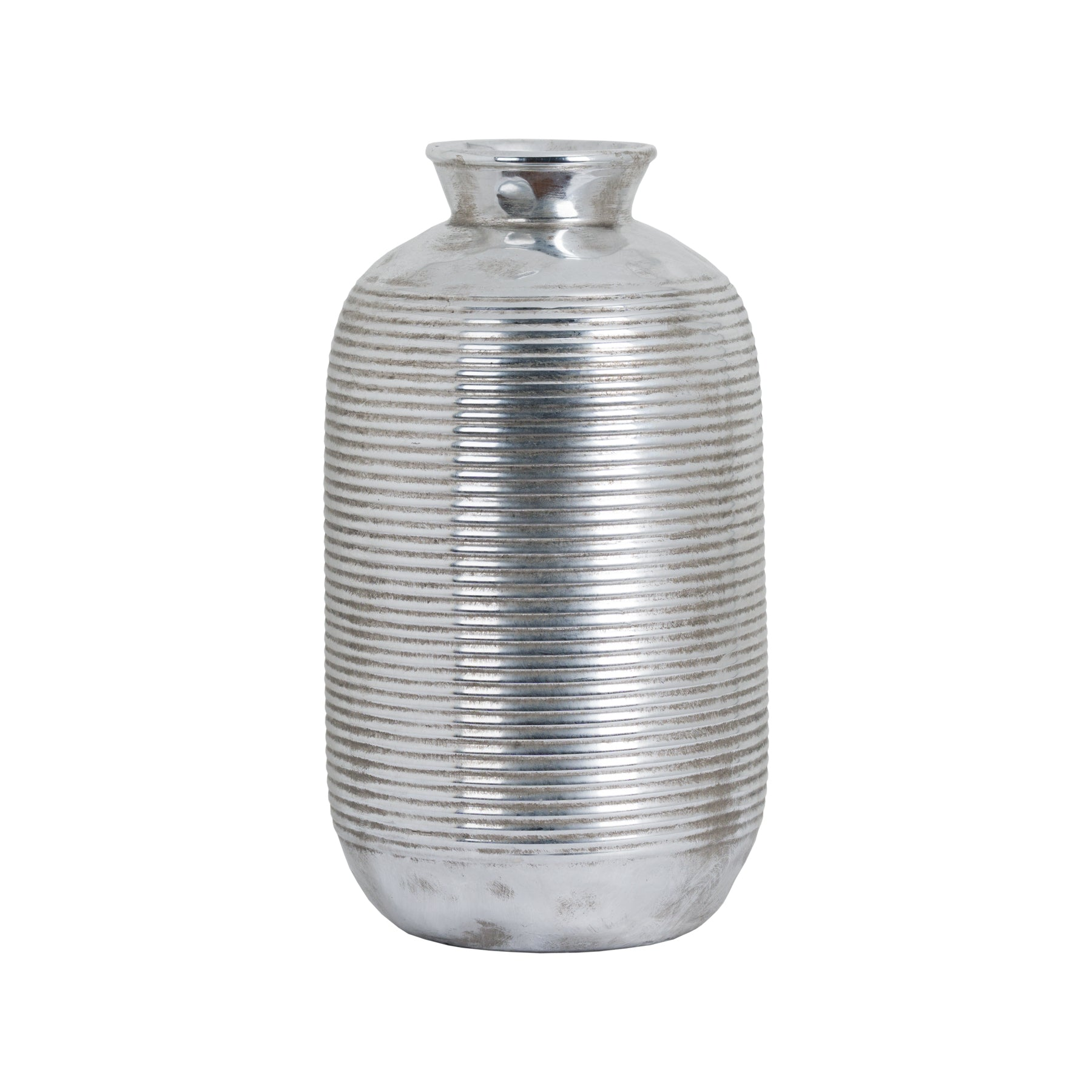 Metallic Ceramic Cylindrical Case with Raised Neck