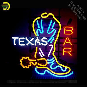 Texas Boot, Neon Sign, Home, Man Cave, Restaurant Handcraft