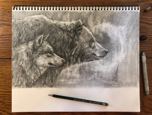 Original drawing graphite - 8.5x14