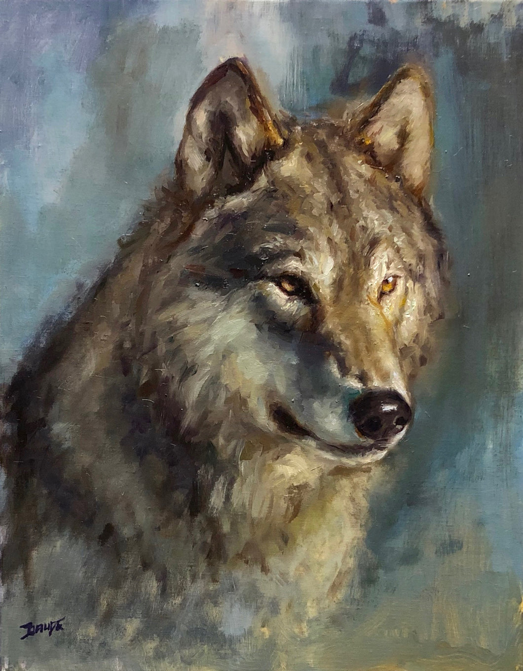 Timber Wolf Portrait -20x16