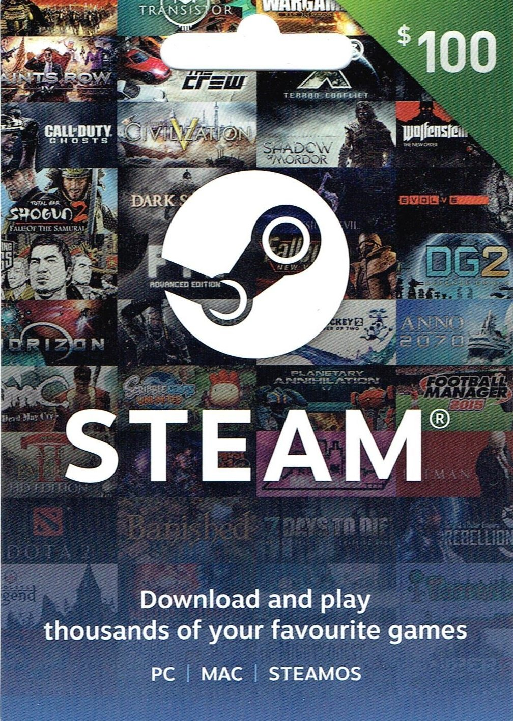 Steam $100 Gift Card