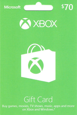 XBOX Live $70 Gift Card