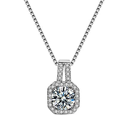 Square Zirconia Diamond Pendant