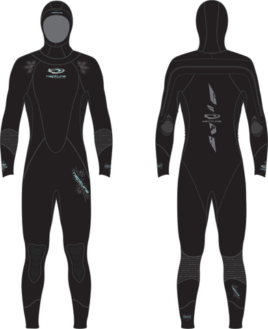 DRY ICE TECH 7MM SEMI-DRY WETSUIT