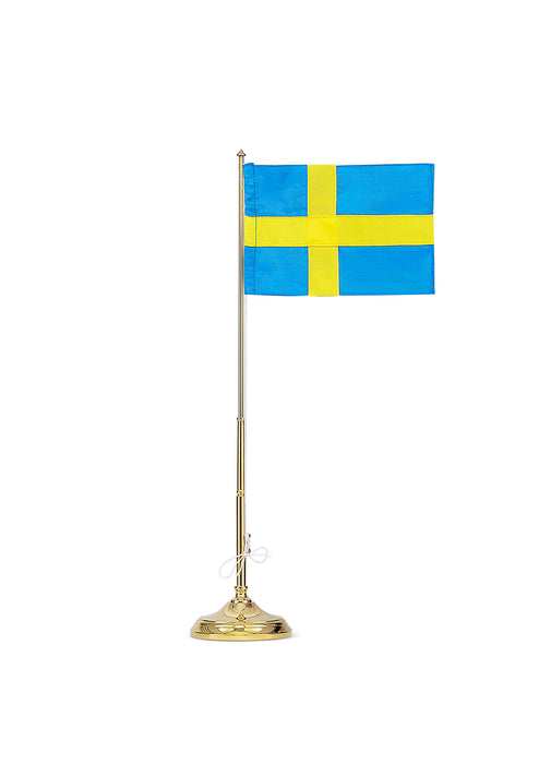 Flagpole with Swedish Flag by Skultuna