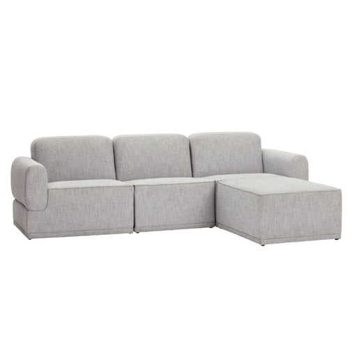 Modular Sofa for 3 People w/ Pouf by Hübsch