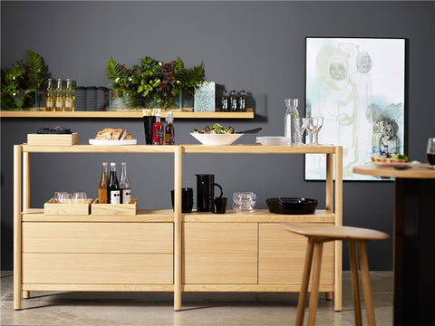 Cavetto Shelving Unit L940 with 3 Shelves by Karl Andersson & Söner