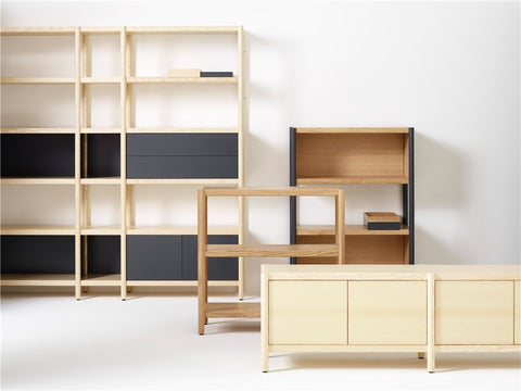 Cavetto Shelving Unit L390 with 3 Shelves by Karl Andersson & Söner