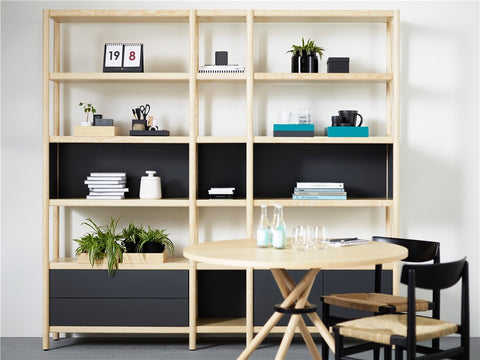 Cavetto Shelving Unit L940 with 6 Shelves by Karl Andersson & Söner