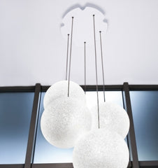 Lumen Center Iceglobe Bubble 3/5/10 Suspension Lamp