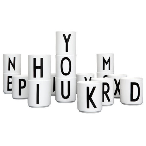 Arne Jacobsen Porcelain Cups by Design Letters (Some Letters on Sale)