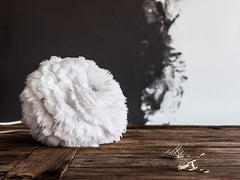 Eos White Feather Pendant by VITA Copenhagen