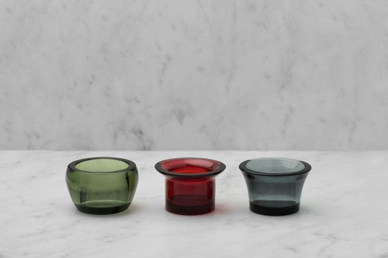 Kin Glass Candleholder by Skultuna (set of 3)