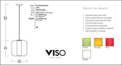 Viso Iris Suspension Lamp