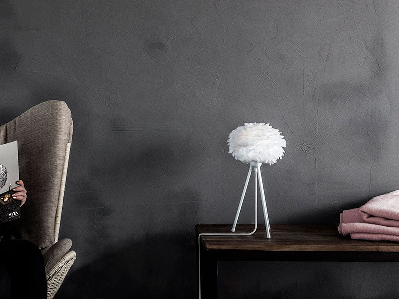 Eos White Feather Table Lamp by VITA Copenhagen