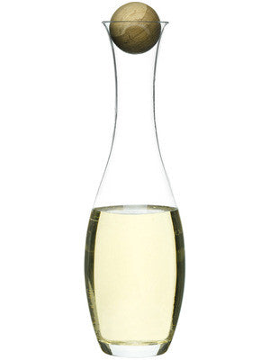 Oval Oak Wine/Water Carafe by Sagaform