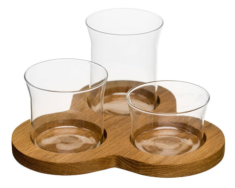 Glass Serving Set by Sagaform