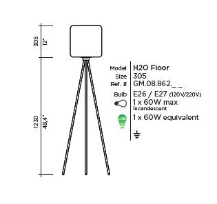 H20 Floor Lamp by VISO (Made in Canada)