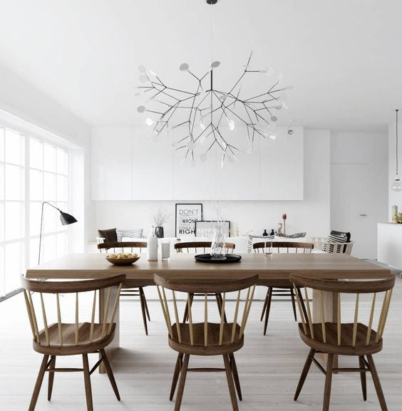 Heracleum Ii on swing arm lighting