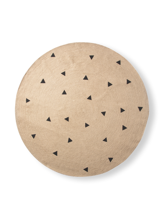 Round Carpet with Triangles by Ferm Living