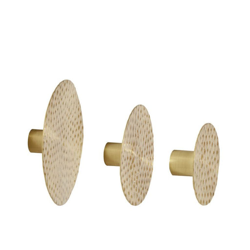 Metal Brass Knob, Set of 3 by Hübsch