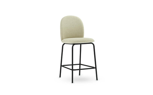 Ace Bar Chair Black Steel, Full Upholstery (65cm and 75cm) by Normann Copenhagen