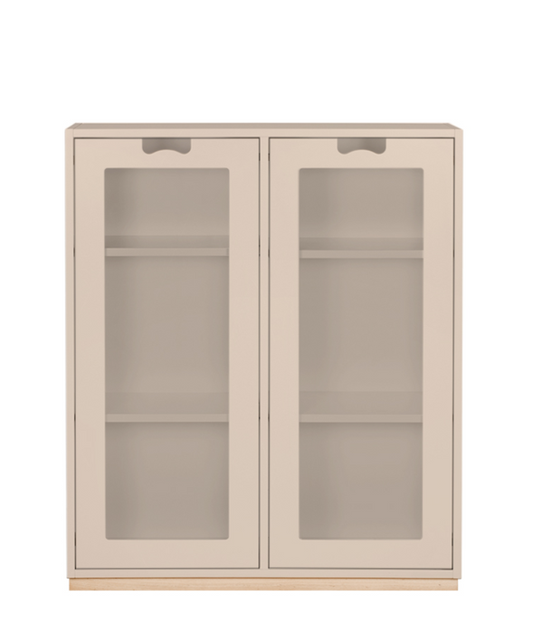 Snow E Cabinet with Glass Doors by Asplund
