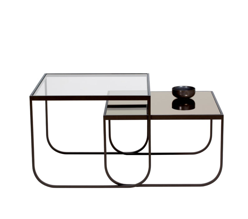 Tati Coffee Table Square with Glass Top - High and Low by Asplund