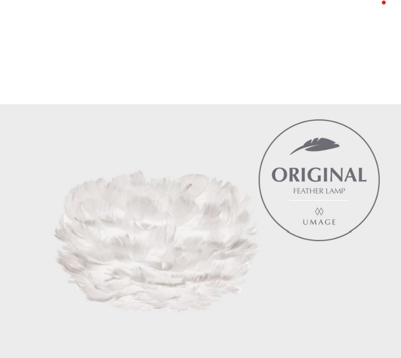 Eos White Feather Pendant by UMAGE