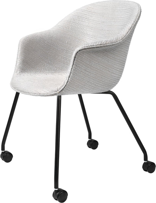 Bat Meeting Chair - Fully Upholstered, 4 Legs w/ Castors by Gubi