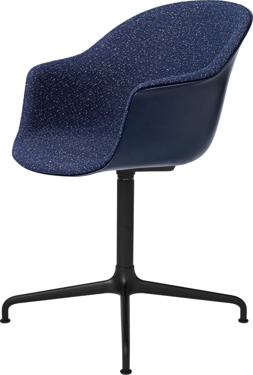 Bat Meeting Chair - Front Upholstered, 4-Star Base by Gubi