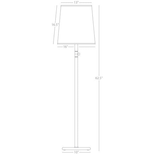 Buster Chica Floor Lamp by Robert Abbey