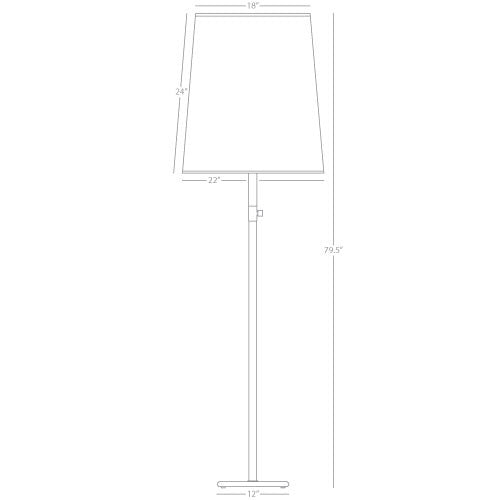 Buster Floor Lamp by Robert Abbey