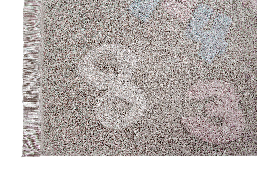 Baby Numbers Washable Rug by Lorena Canals