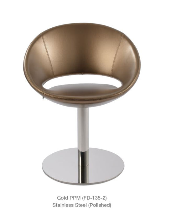 Crescent Round Swivel Chair by Soho Concept