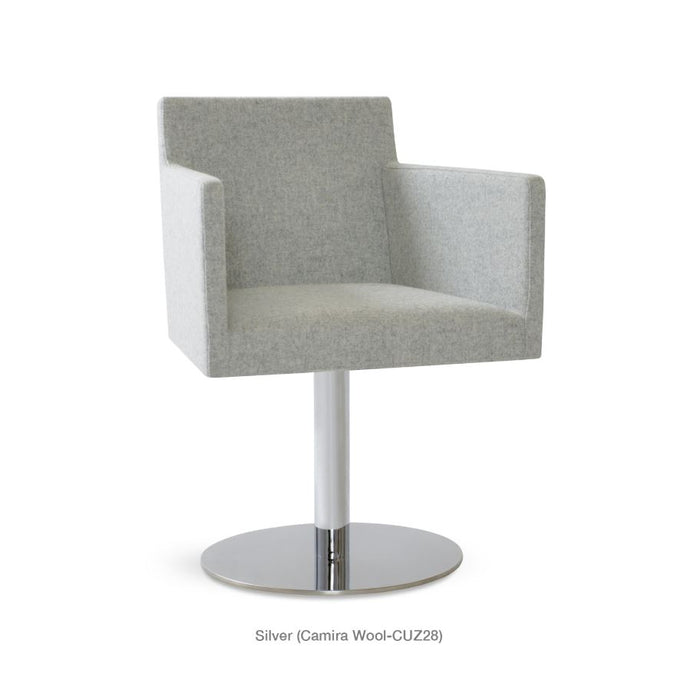 Harput Swivel Round Arm Chair by Soho Concept