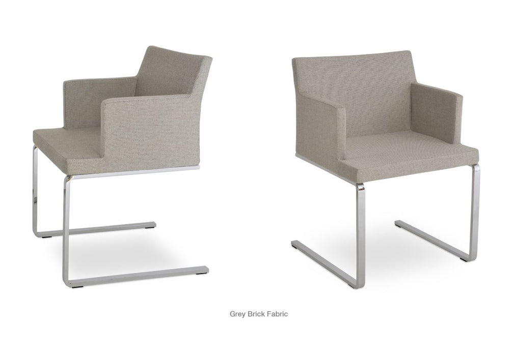 Soho Flat Arm Chair by Soho Concept