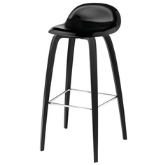 Gubi 3D Counter Stool-Wood Seat