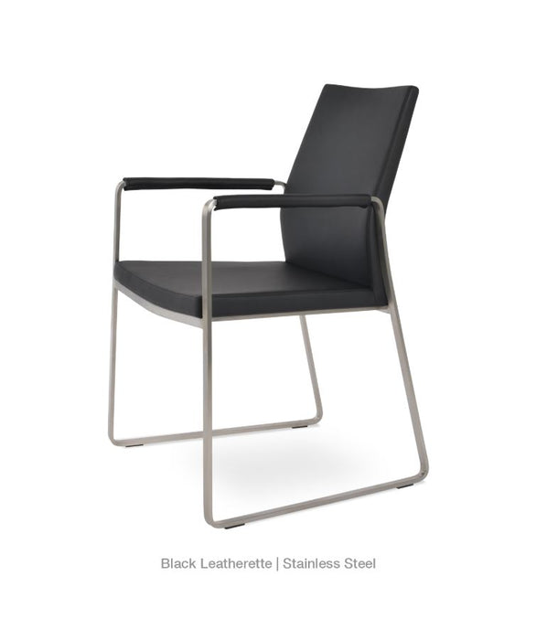 Pasha Slide Arm Chair by Soho Concept