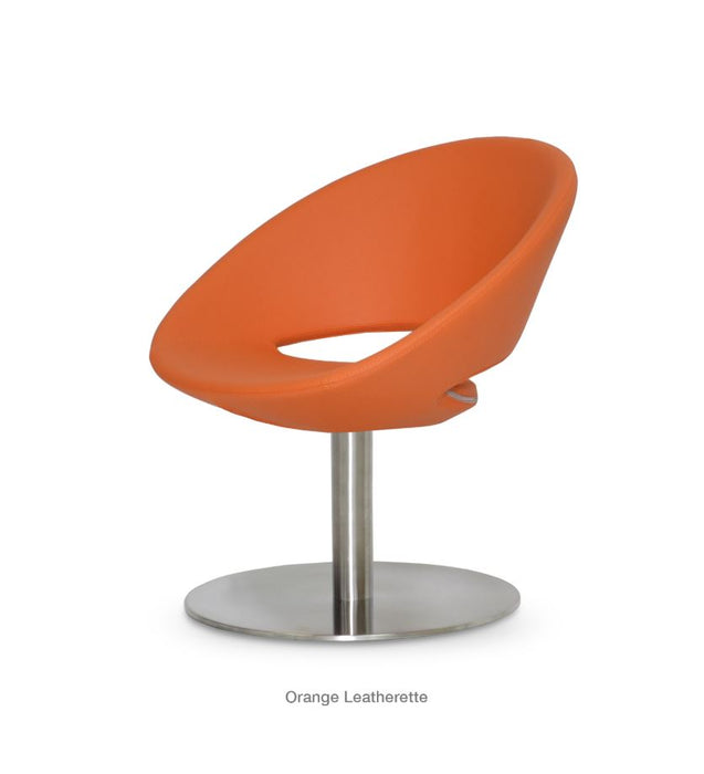 Crescent Large Seat Lounge Swivel Round Chair by Soho Concept