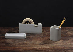 Concrete Desk Set by Areaware