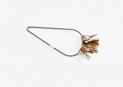 Contour Key Ring Petal XL Brass or Black