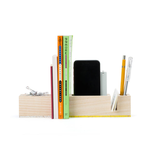 Bau Desktop Organizer & Magnetic Paper Clip Holder by Most Modest (Made in USA)