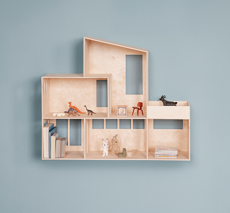 funkis doll house by ferm living the modern shop. Black Bedroom Furniture Sets. Home Design Ideas