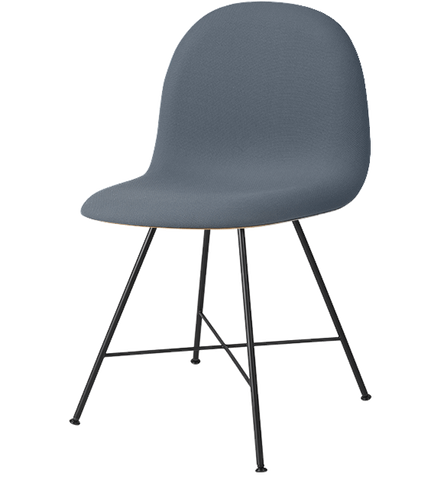 3D Wood Center Base Dining Chair w/ Front Upholstery by Gubi