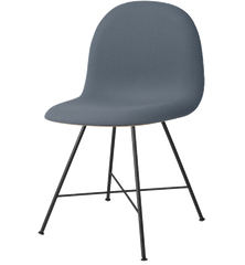 Gubi 12F (Front Upholstered) Centerbase Wooden shell chair by Gubi