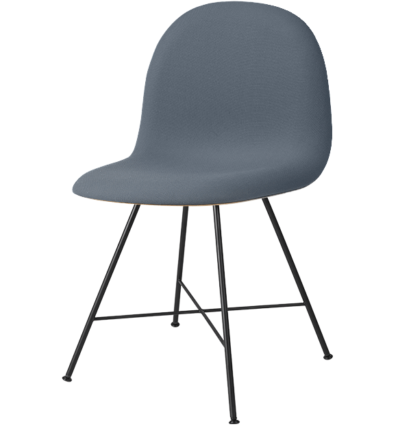 3D HiRek Center Base Dining Chair w/ Front Upholstery by Gubi