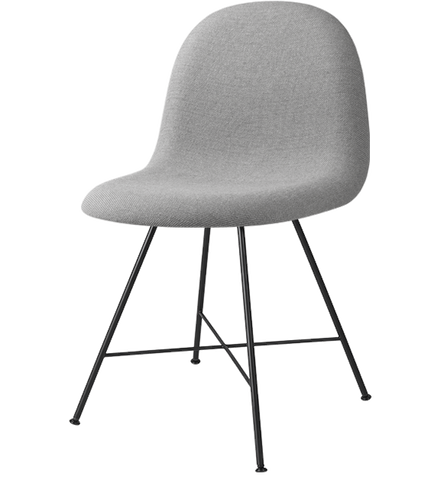 3D Center Base Dining Chair Fully Upholstered by Gubi