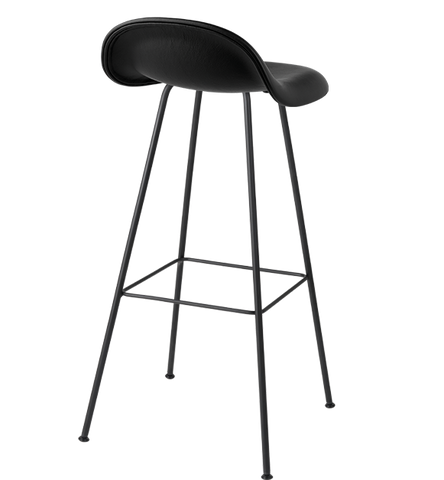 3D Counter Stool w/ Center Base Fully Upholstered by Gubi