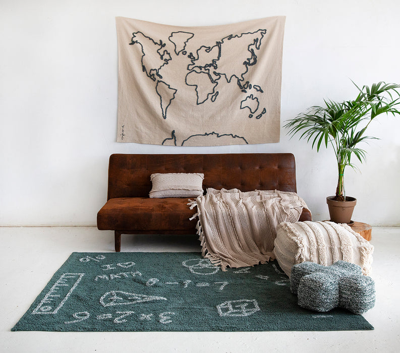 Wall Hanging Canvas Map by Lorena Canals